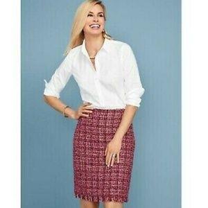 Talbots Tweed Fringed-hem A-line Skirt